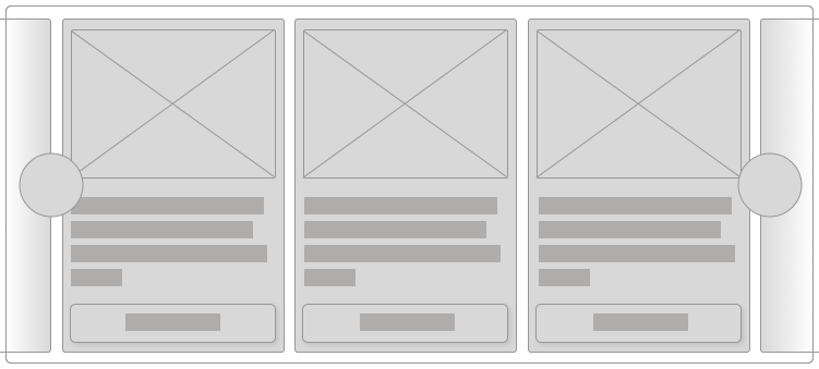 Carousel with multiple cards and pagination controls