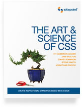 The cover of the Art and Science of CSS